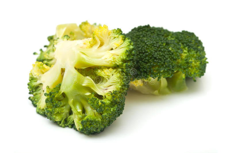 I broccoli hanno cucinato il primo piano fresco immagini stock libere da diritti