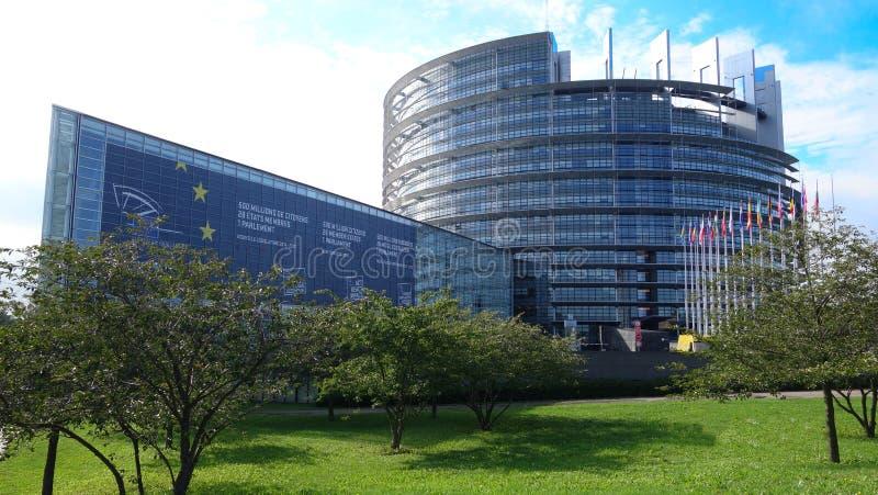 i byggnad för europeisk union för Tyskland arkivbilder