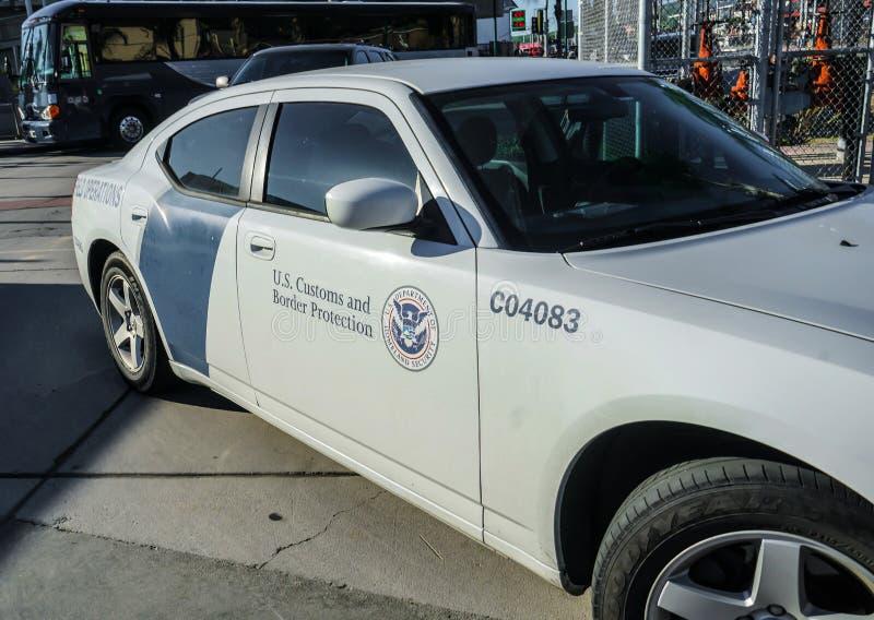 I.C.E. Border Patrol Vehicle, San Ysidro, California, USA stock photo