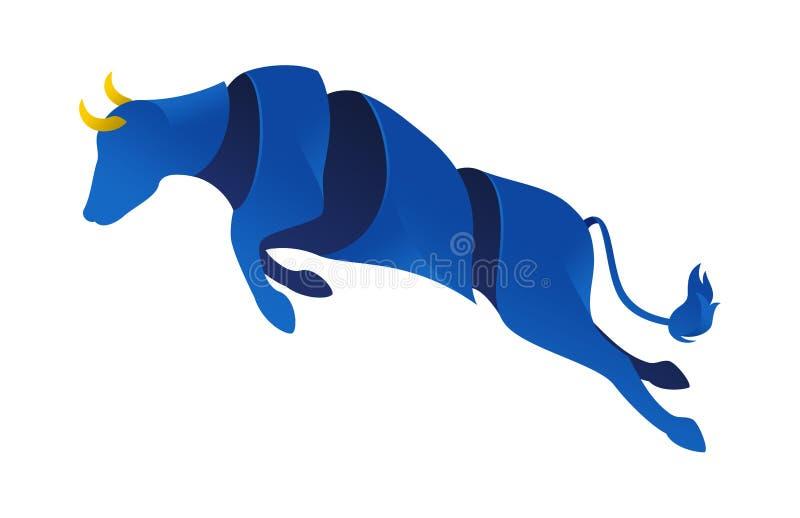 I caccia al toro spagnolo saltano royalty illustrazione gratis