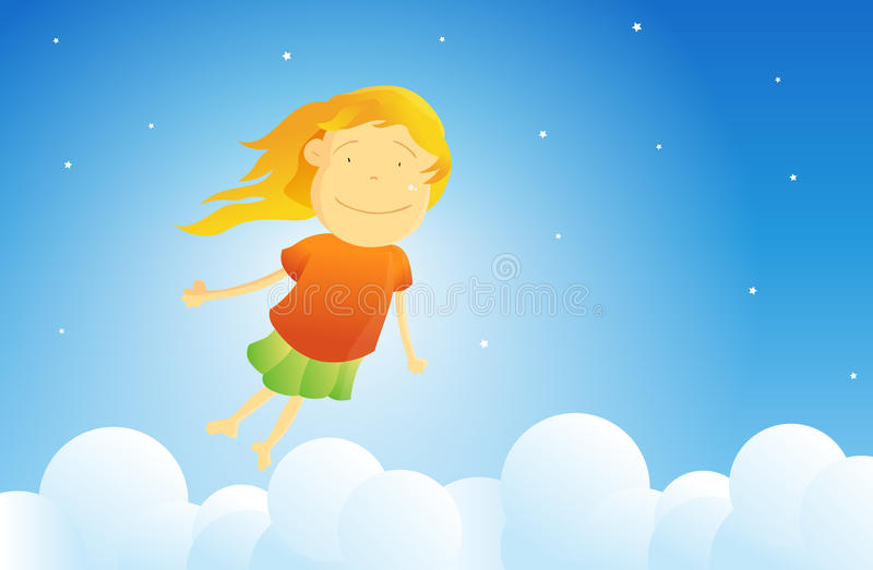 Download I Can Fly stock vector. Image of children, clouds, flying - 19414948