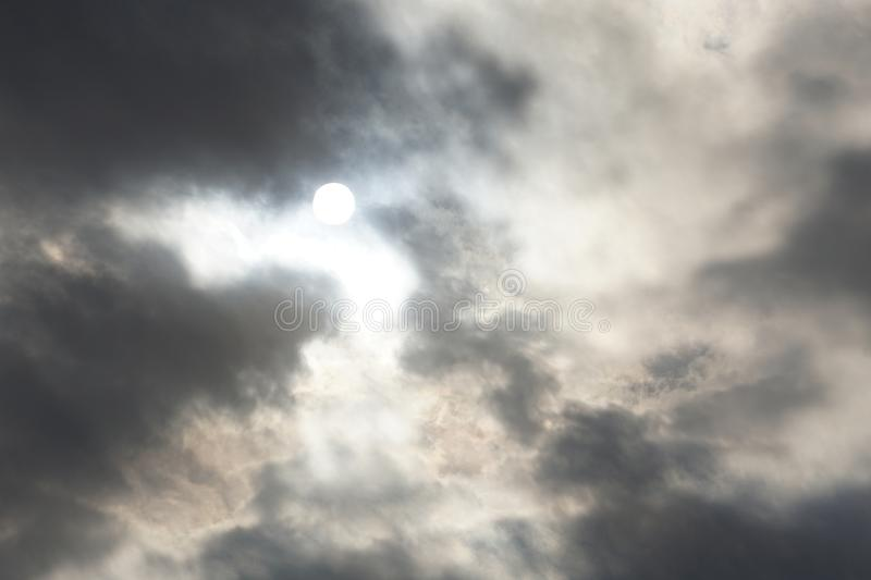 Beautifully Murky Cloudscapes. I can`t keep my eyes off the sky when it is cloudy and the sun travels through stock photography