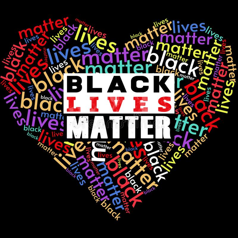 Free I Can&x27;t Breathe Black Lives Matter  Illustration In The Heart Shape. Royalty Free Stock Images - 185846109