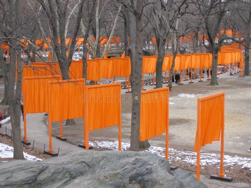 I cancelli in Central Park, New York City 2004 fotografie stock libere da diritti