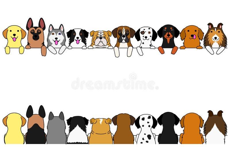 I cani confinano l'insieme illustrazione vettoriale