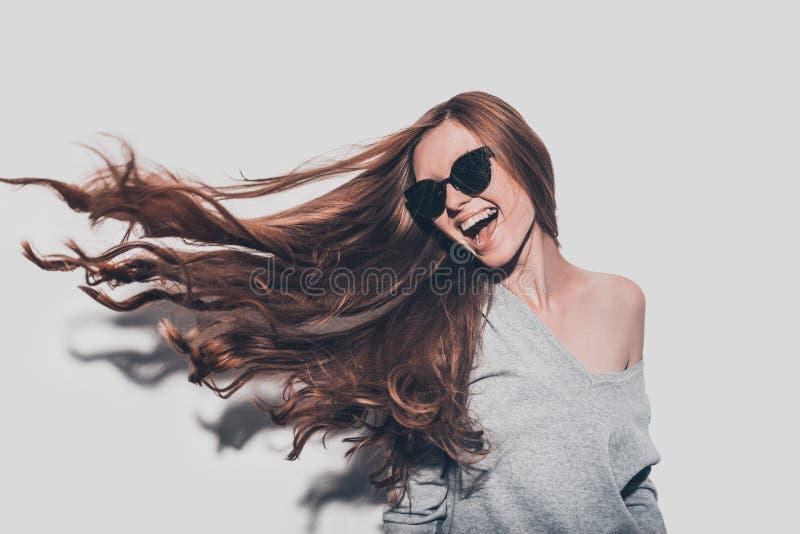 I capelli gradiscono il fuoco fotografia stock libera da diritti