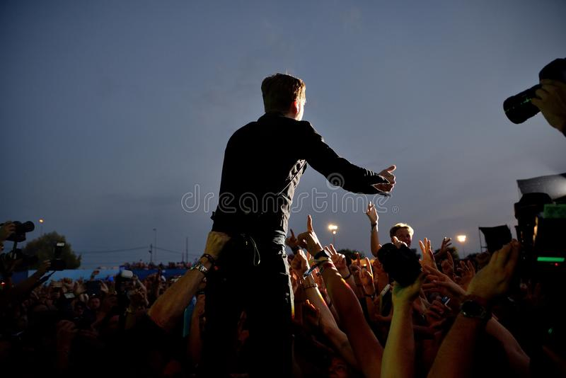 I capi di Kaiser legano di concerto al festival FIB fotografia stock