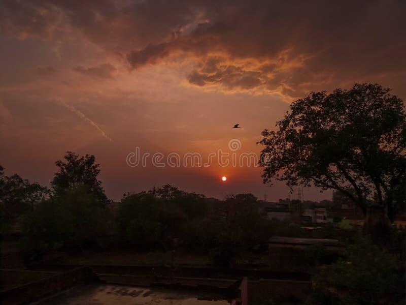 Beautiful sunset evening stock photos