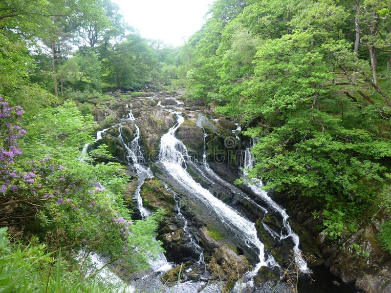 Swallow Falls, Betws-Y-Coed, Wales stock photography
