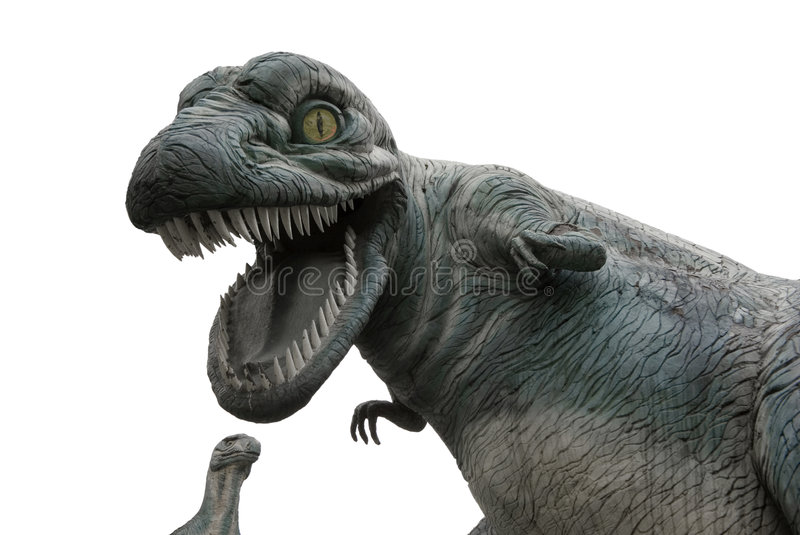 I caught you. Huge dino's caught you royalty free stock images