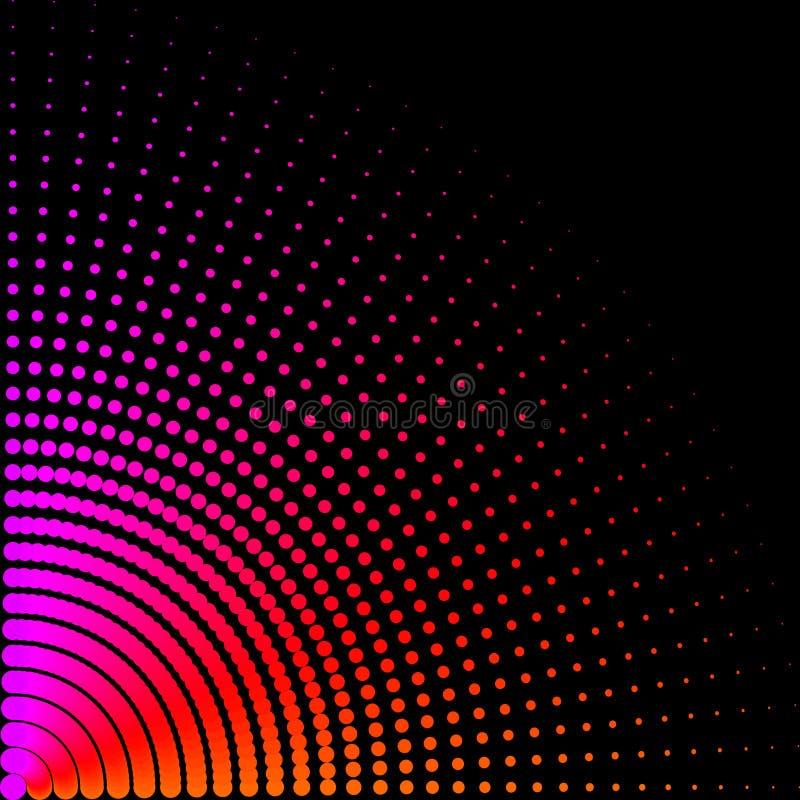 I cerchi colorati, palle su un fondo nero è isolato Illustrazione alla moda di vettore per web design illustrazione vettoriale