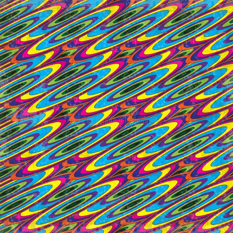 I cerchi colorati sottraggono l'illustrazione geometrica psichedelica di vettore del fondo illustrazione vettoriale