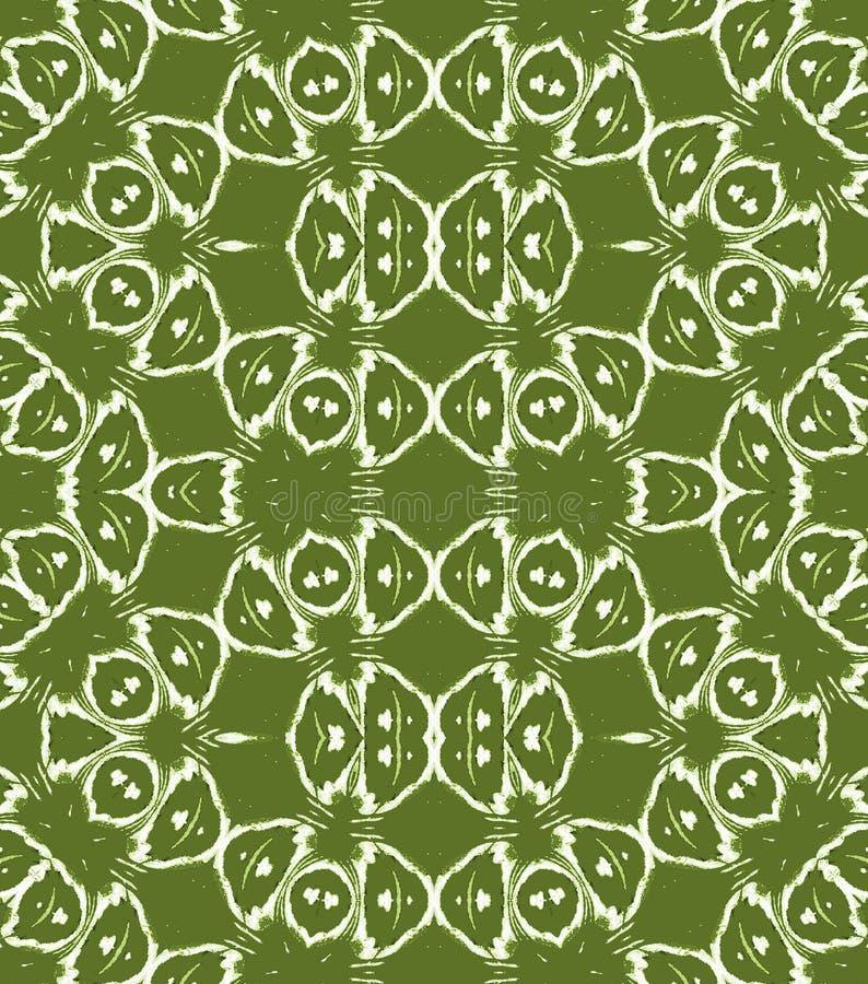 I cerchi e gli ellissi regolari modellano il bianco di verde verde oliva illustrazione di stock