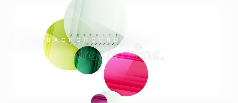 I cerchi variopinti lucidi sottraggono il fondo, progettazione geometrica moderna royalty illustrazione gratis