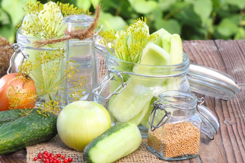 I cetrioli si ridurre immagine stock