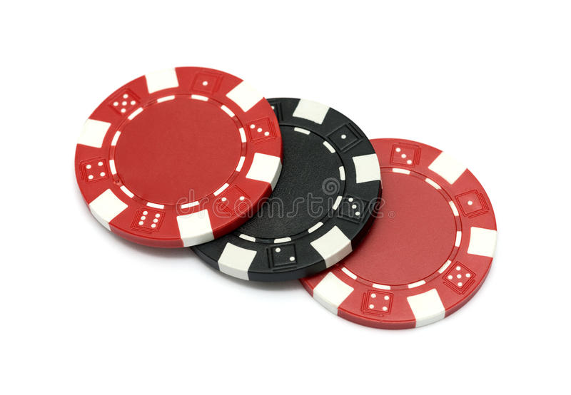 I chip del casinò fotografia stock