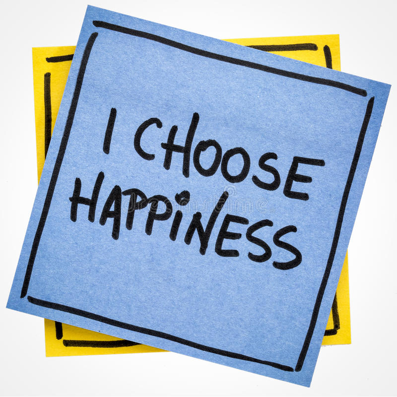 I choose happiness positive affirmation stock images