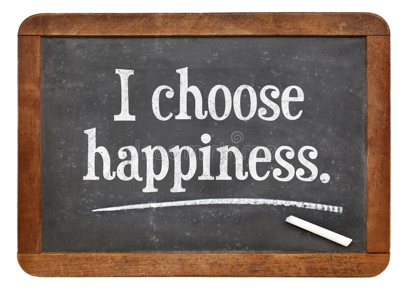 Download I choose happiness stock image. Image of concept, blackboard - 45341789