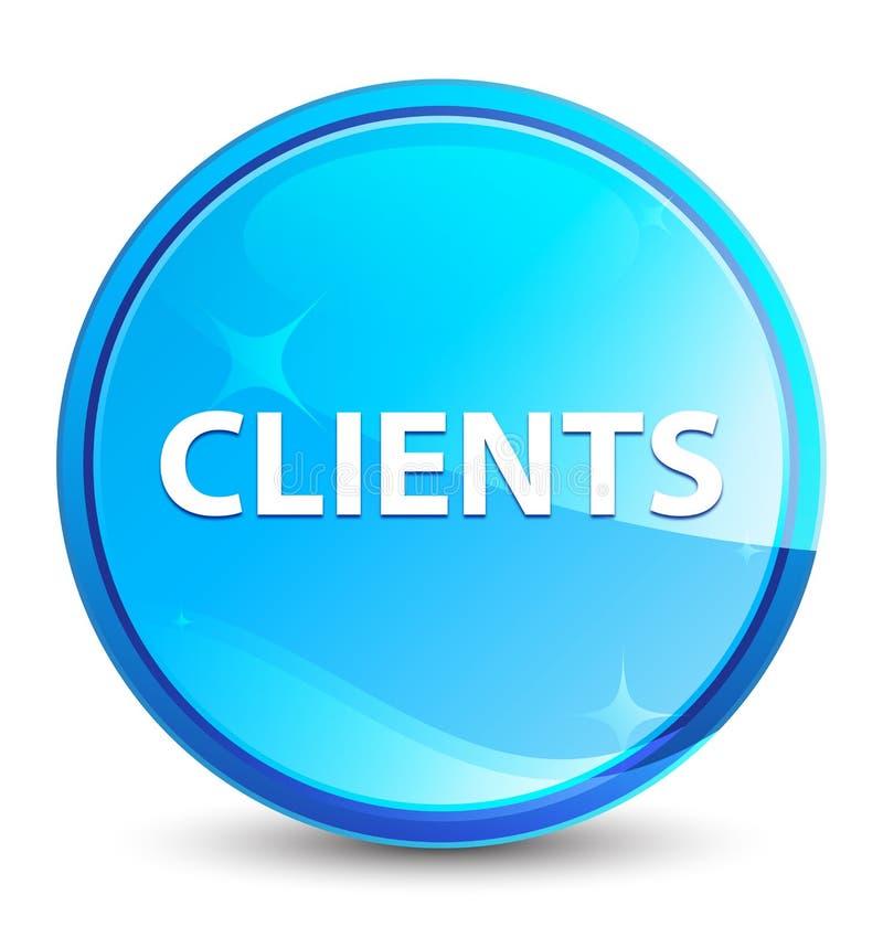 I clienti spruzzano il bottone rotondo blu naturale illustrazione di stock