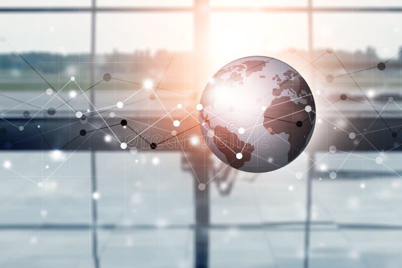 I collegamenti globali hanno mescolato il fondo di media immagine stock libera da diritti