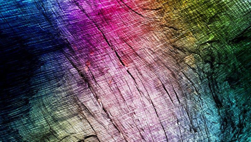 I colori astratti dell'arcobaleno hanno protetto il fondo strutturato di legno struttura di carta del fondo di lerciume Carta da  illustrazione vettoriale