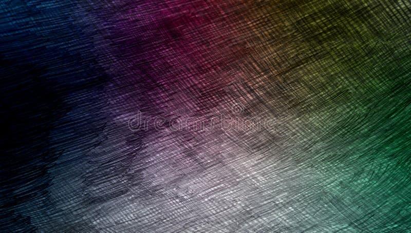 I colori astratti dell'arcobaleno hanno protetto il fondo strutturato struttura di carta del fondo di lerciume Carta da parati de illustrazione vettoriale