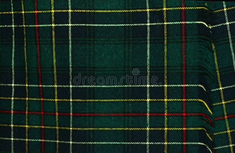 I colori del kilt del plaid di tartan significano le origini della famiglia del clan fotografia stock libera da diritti