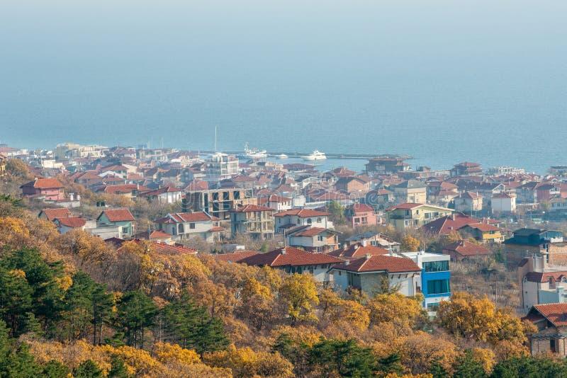 I colori dell'autunno tardo in Sveti Vlas, Bulgaria fotografie stock