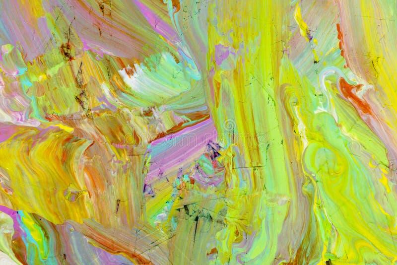 I colori misti di flusso dipingono il fondo illustrazione di stock
