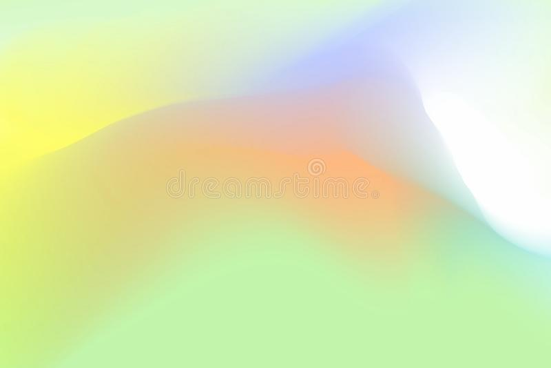 I colori pastelli verdi e marroni vaghi delicatamente ondeggiano l'effetto variopinto per l'estratto del fondo, pendenza dell'ill illustrazione vettoriale