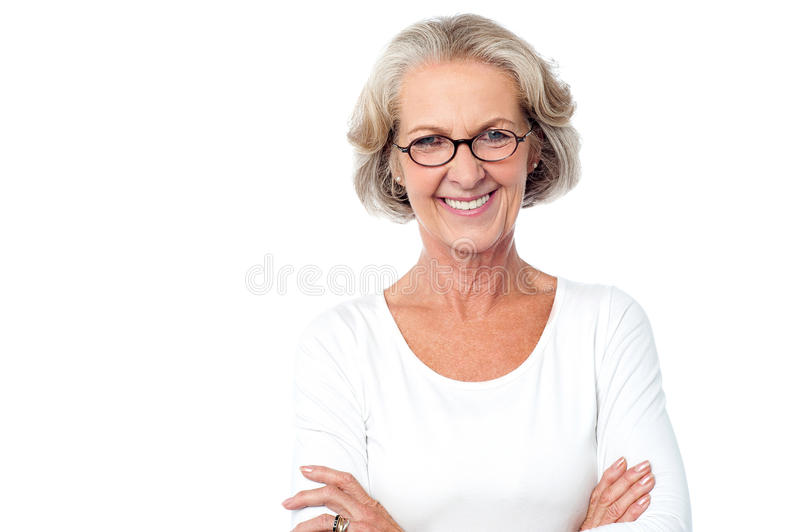 I am confident woman. royalty free stock image