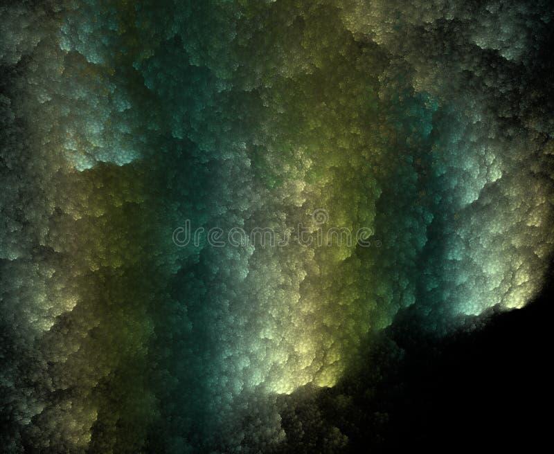 I coralli scuri, frattale hanno generato il fondo illustrazione vettoriale