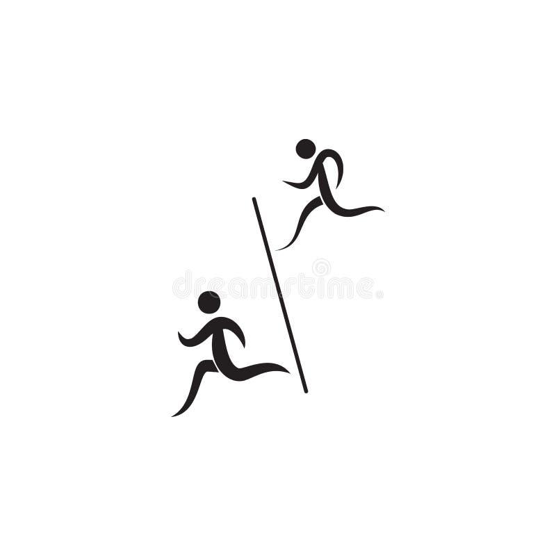 i corridori attraversano l'icona dell'arrivo Elementi dell'icona dello sportivo Icona premio di progettazione grafica di qualità  illustrazione di stock