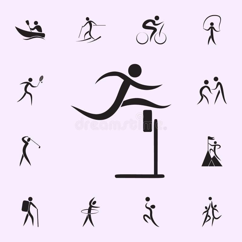 i corridori attraversano l'icona dell'arrivo Elementi dell'icona dello sportivo Icona premio di progettazione grafica di qualit?  royalty illustrazione gratis