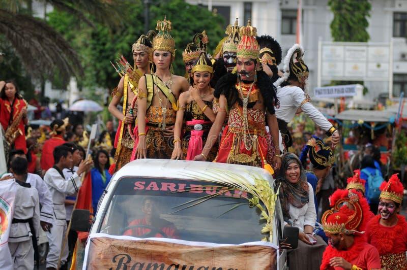 I costumi tradizionali del burattino hanno chiamato Wayang immagini stock libere da diritti