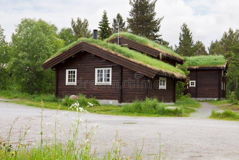 I cottage di Bardola Hoyfjellshotell a Geilo fotografia stock