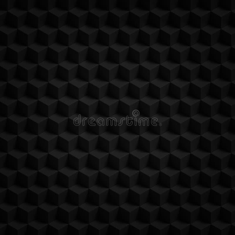 I cubi 3D del nero rendono royalty illustrazione gratis
