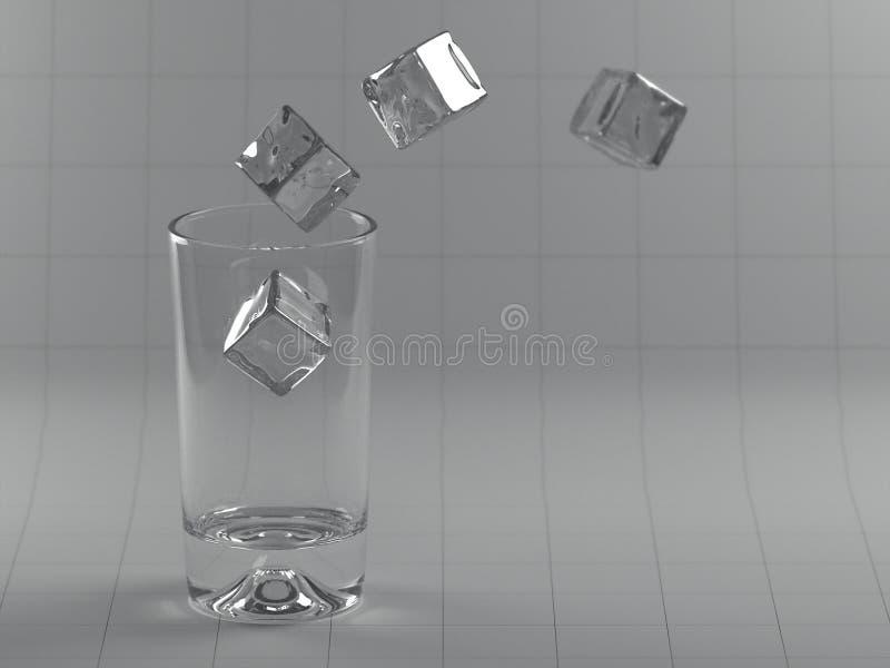 I cubi di ghiaccio erranti illustrazione vettoriale