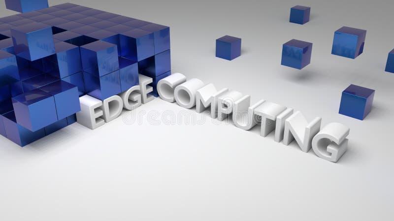 I cubi metallici blu su bianco con le parole integrate orlano il conp illustrazione di stock