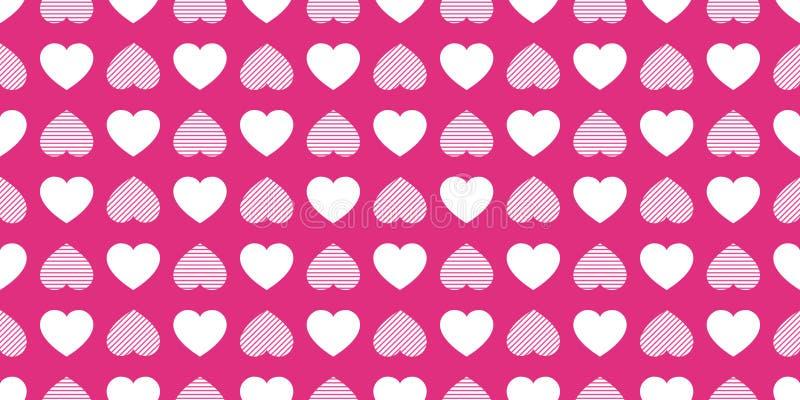 I cuori di amore hanno ripetuto la struttura Fondo di vettore di giorno di biglietti di S. Valentino del san Modello senza cucitu royalty illustrazione gratis