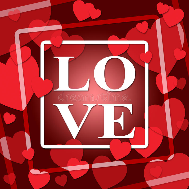 I cuori di amore rappresenta il giorno e la devozione di biglietti di S. Valentino illustrazione vettoriale