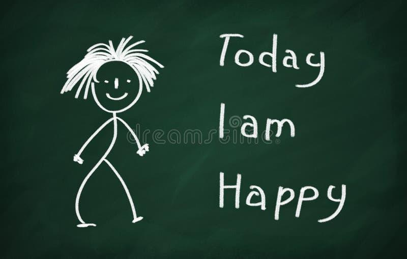 I dag är jag lycklig vektor illustrationer