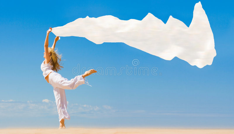I dance like goddess stock image