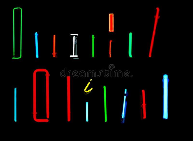 I de Brieven van het Neon stock illustratie