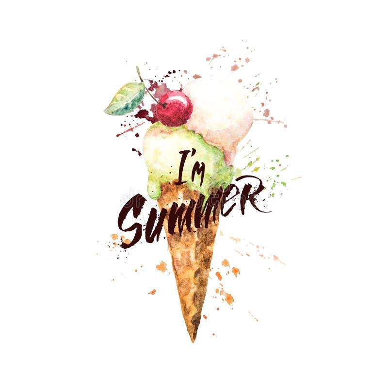 I de zomer van ` m royalty-vrije illustratie