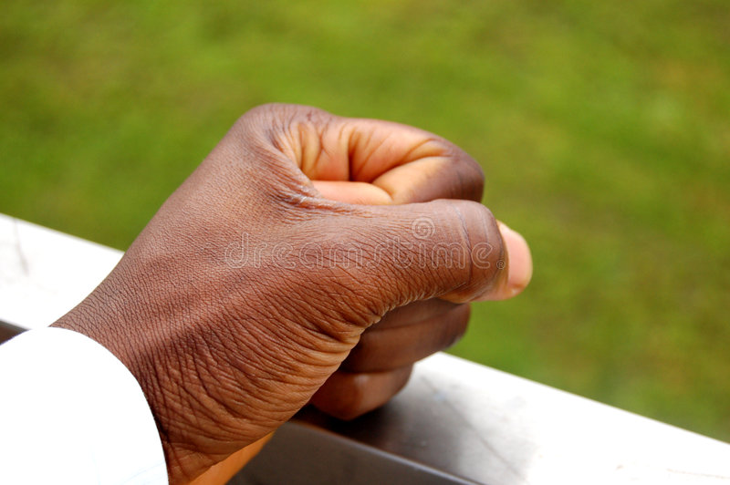 I am decided. Authoritive fist in action royalty free stock photos
