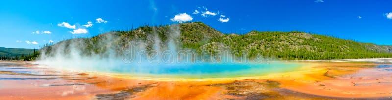 Grand Prismatic Spring Panoramic Image stock photo