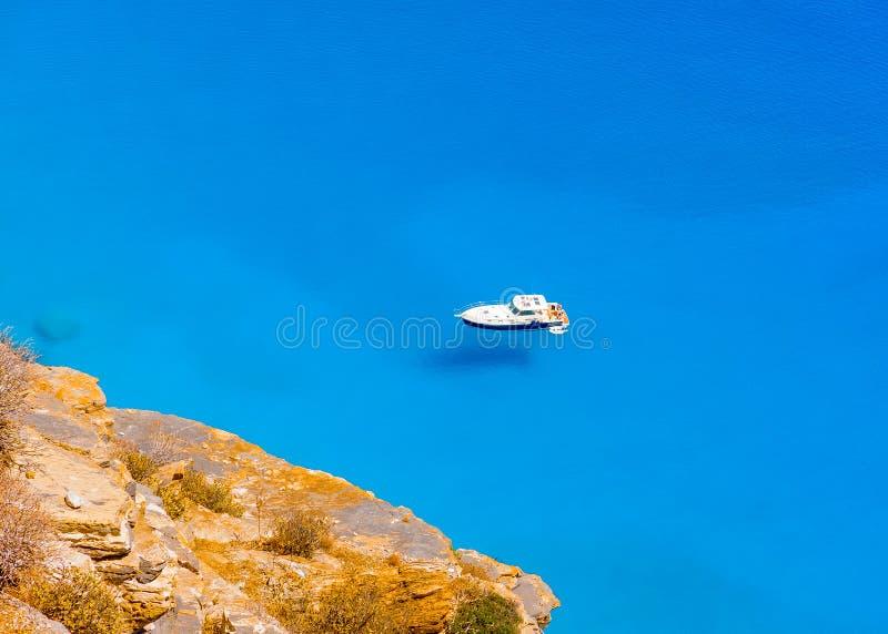 I den Amorgos ön i Grekland arkivbild