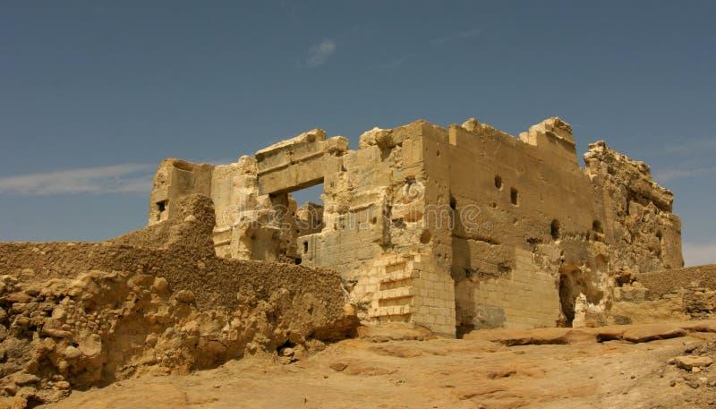 Oracle tempel av Amun, Siwa Egypten arkivbild