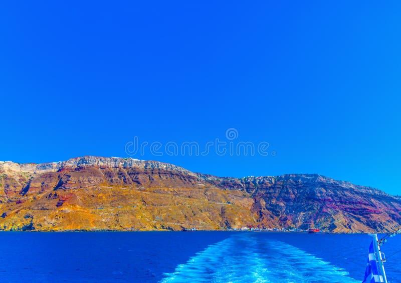 I den Santorini ön i Grekland arkivfoto
